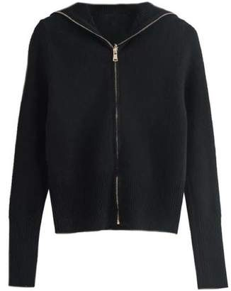 Goodnight Macaroon 'Jamie' Soft Oversized Collar Zip-Up Sweater (3 Colors)