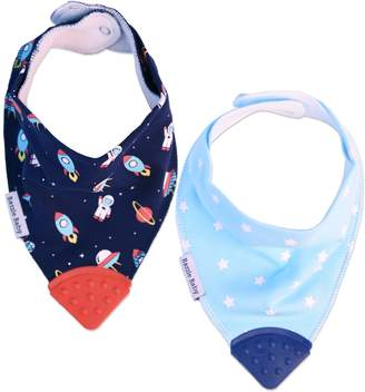 Bazzle Baby 2-pack Space Out & Galaxy Bandana Bibs