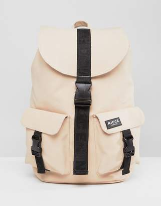 Nicce London rubberised backpack in stone