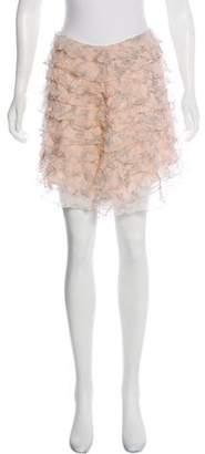 Christian Dior Ruffled Mini Skirt