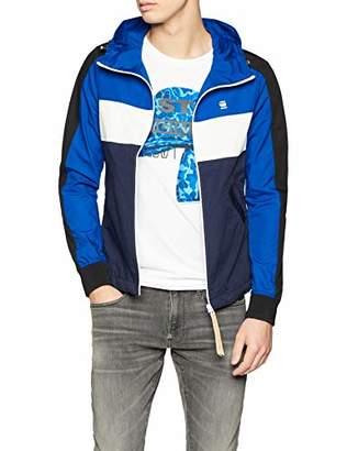 G Star Men's Setscale Cb Hooded Jacket Multicolour (Sartho Hudson Blue A416)