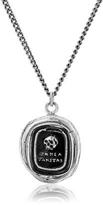 Pyrrha Talisman Men's Sterling Skull Pendant Necklace