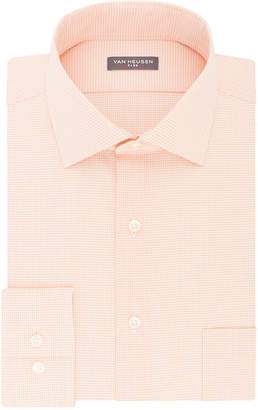 Van Heusen Flex Collar Big And Tall Long Sleeve Twill Pattern Dress Shirt