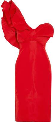Johanna Ortiz - One-shoulder Silk-faille Dress - Red