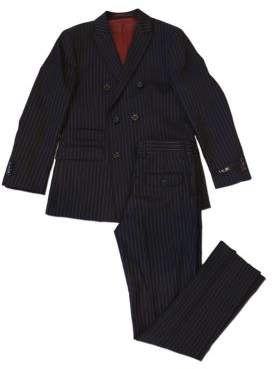 Ike Behar IKE by Two-Piece Pin Stripe Wool Blend Suit
