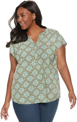 aa72f530b60 Croft   Barrow Green Plus Size Tops on Sale - ShopStyle