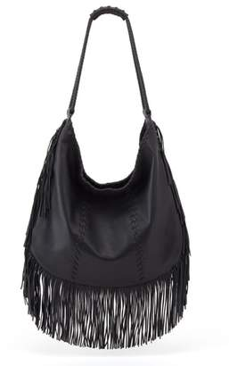 Hobo Gypsy Fringe Calfskin Leather
