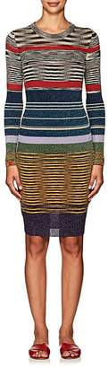 Missoni Women's Striped Fitted Long-Sleeve Dress