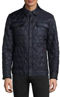 Rainforest Diamond-Quilt Heated Shirt Jacket
