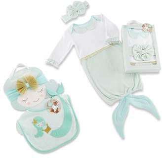 Baby Aspen Simply Enchanted Mermaid 4-Piece Gift Set