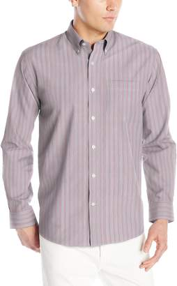 Cutter & Buck Men's Long Sleeve New Epic Easy Care Multi Stripe