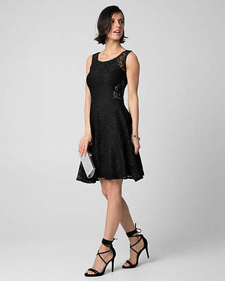 Le Château Corded Lace Scoop Neck Cocktail Dress
