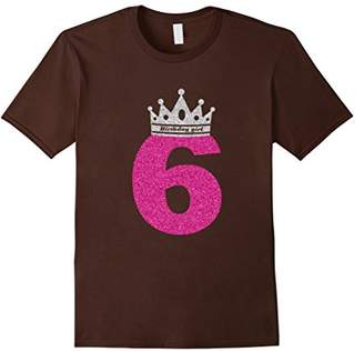 6th Birthday Shirts for Girls Princess Crown T-shirt