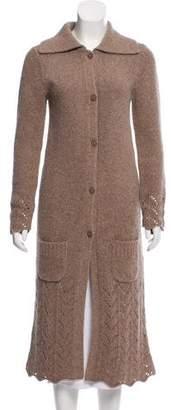 Calypso Wool Rib Knit Cardigan