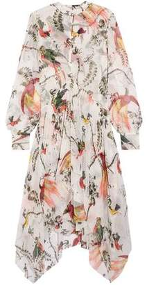 Erdem Twist-Front Crepe Mini Dress