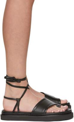 3.1 Phillip Lim Black Yasmine Ankle Wrap Platform Sandals