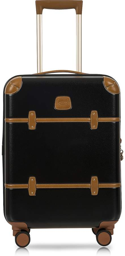 Bric's Bellagio V2.0 21 Black-Tobacco Carry-On Spinner Trunk