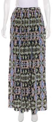 Tibi Silk Printed Maxi Skirt
