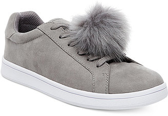 Madden Girl Baabee Pom-Pom Sneakers $59 thestylecure.com