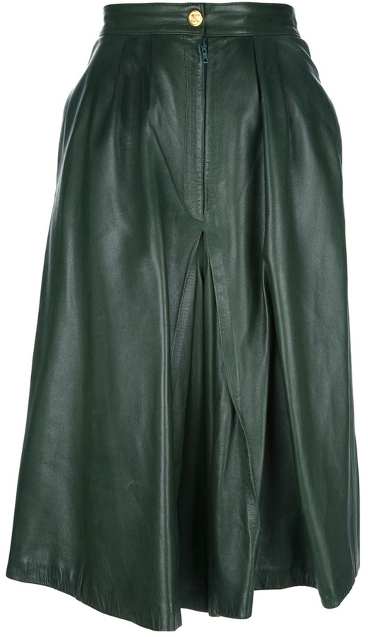 Celine Vintage leather culottes
