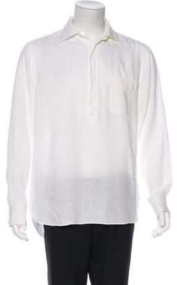 Vilebrequin Linen Popover Shirt