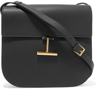 TOM FORD - T Clasp Textured-leather Shoulder Bag - Black $1,990 thestylecure.com