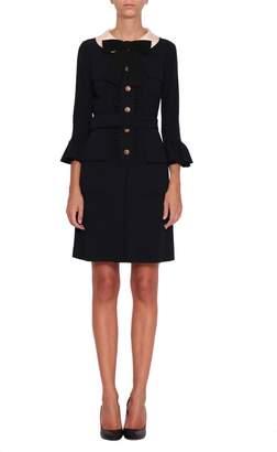 Gucci Ruffled Wool Dress