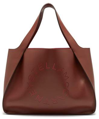 Stella McCartney Stella Perforated Logo Faux Leather Tote Bag - Womens - Tan