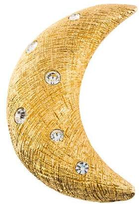 Christian Dior Diamante Crescent Moon Brooch