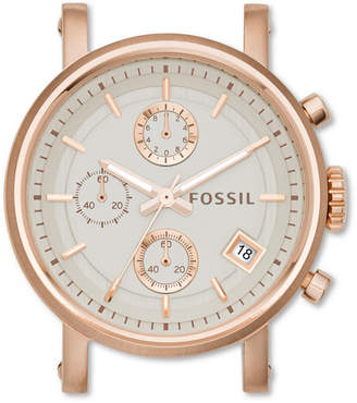 Fossil Original Boyfriend Chronograph Rose-Tone Stainless Steel Watch Case