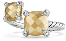David Yurman Châtelaine 18K Gold & Sterling Silver Bypass Ring with Diamonds