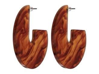 Kenneth Jay Lane Gold Resin Tortoise Earrings