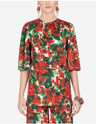 Dolce & Gabbana Portofino-Print Viscose Blouse