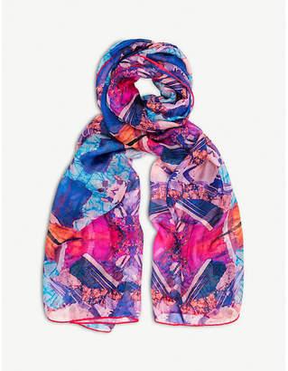 BEATRICE JENKINS Twinning Crystal silk scarf
