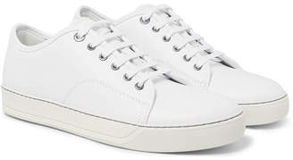 Lanvin Cap-Toe Leather Sneakers