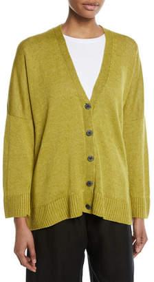 eskandar 3/4 Sleeves Lightweight Linen Cardigan