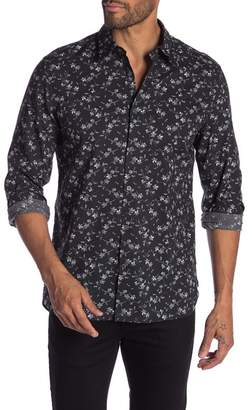 John Varvatos Floral Long Sleeve Regular Fit Shirt
