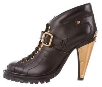 Miu Miu Gold Trim Ankle Boots w/ Tags