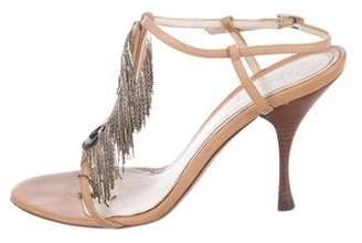 Fendi Leather Slingback Sandals