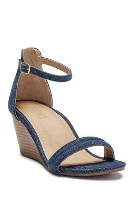 Kenneth Cole New York Cake Icing Ankle Strap Wedge Sandal