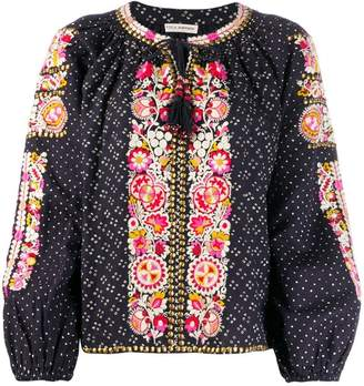 Ulla Johnson studded embroidered blouse