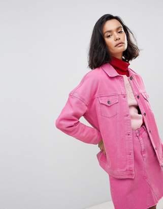 Vero Moda Oversized Coloured Denim Jacket