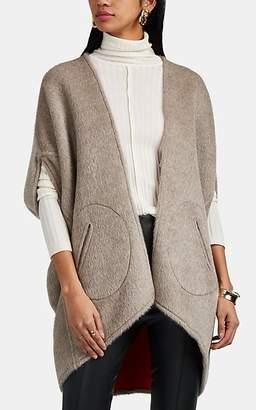 Zero Maria Cornejo Women's Mala Reversible Alpaca-Wool Shrug Coat - Sand, Coral