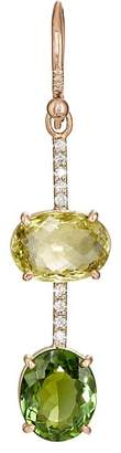 Irene Neuwirth Women's Green Tourmaline & White Diamond Earring