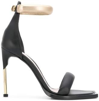 Alexander McQueen contrast open-toe sandals