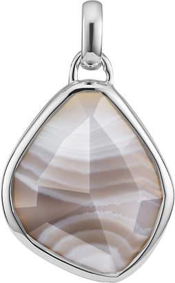 Monica Vinader Siren Medium sterling silver and grey agate pendant