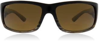 Maui Jim World Cup Sunglasses Chocolate Stripe Fade H266-01 Polariserade 64mm
