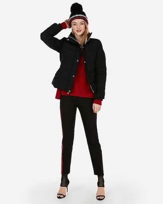 Express Short Belted Puffer Jacket