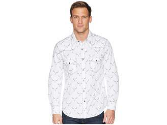 Rock and Roll Cowboy Long Sleeve Snap Print B2S6041 Men's Clothing