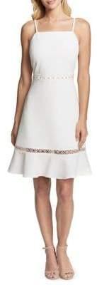 Kensie Dresses Floral Stitch Fit-&-Flare Dress